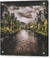 Dark River Woods Acrylic Print