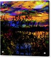 Dark Shadowy Sunset Acrylic Print
