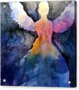 Dark Skies Angel Acrylic Print