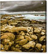 Dark Skies On Ocean Shores Acrylic Print