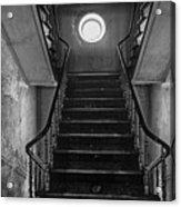 Dark Stairs To Attic - Urban Exploration Acrylic Print