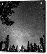 Dark Stellar Universe Acrylic Print
