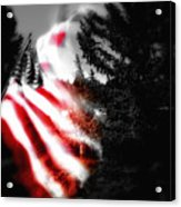 Darkness Falling On Freedom Acrylic Print
