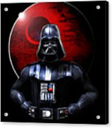 Darth Vader And Death Star Acrylic Print