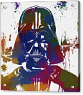 Darth Vader Paint Splatter Acrylic Print