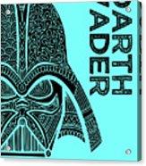 Darth Vader - Star Wars Art - Blue Acrylic Print