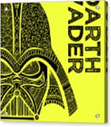 Darth Vader - Star Wars Art - Yellow Acrylic Print