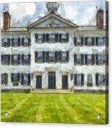 Dartmouth College Hanover New Hampshire Pencil Acrylic Print