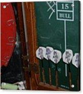 Darts And Board Acrylic Print
