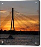 Daugava Sunset. Riga. Latvia Acrylic Print
