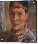 Daughter Of The Artist 1933 Kuzma Sergeevich Petrov-vodkin Acrylic Print