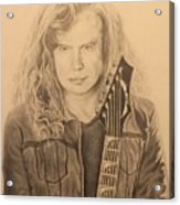 Dave Mustaine Acrylic Print