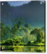 Dave Ruberto - Wonderful Lake Green Nature Landscape  Acrylic Print