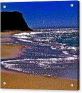 Davenport Landing Beach Purple Acrylic Print