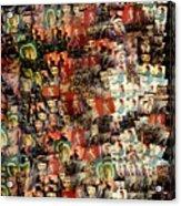 David Bowie Collage Mosaic Acrylic Print