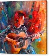 David Bowie In Space Oddity Acrylic Print