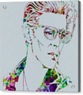 David Bowie Acrylic Print by Naxart Studio