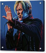 David Bowie Live Painting Acrylic Print