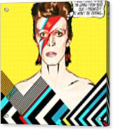 David Bowie Pop Art Acrylic Print