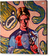 David Bowie Song Reference Painting Acrylic Print