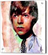 David Bowie Teenager Aquarelle  Acrylic Print