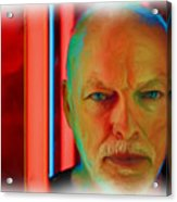 David Gilmour Red,nixo Acrylic Print