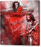 David Lee Roth And Eddie Van Halen Jump Acrylic Print