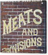 David Mann - Meats And Provisions Acrylic Print