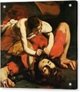 David With The Head Of Goliath Acrylic Print by Michelangelo Caravaggio