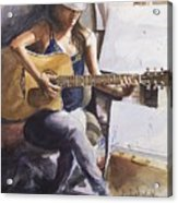 Dawb Leej - Studio Serenade Acrylic Print