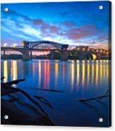 Dawn Along The River Acrylic Print by Steven Llorca