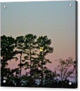 Dawn And Moon Setting - Virginia Acrylic Print