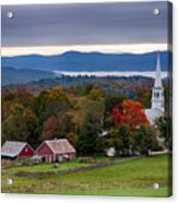 dawn arrives at sleepy Peacham Vermont Acrylic Print