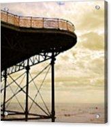 Dawn At Colwyn Bay Victoria Pier Conwy North Wales Uk  Acrylic Print