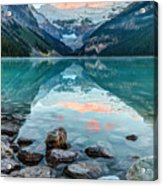 Dawn At Lake Louise Acrylic Print