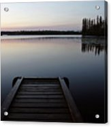 Dawn At Lynx Lake In Northern Saskatchewan Acrylic Print