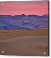 Dawn At Mesquite Flat #3 - Death Valley Acrylic Print