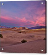 Dawn At Mesquite Flats #2 - Death Valley Acrylic Print
