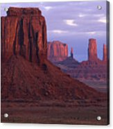 Dawn At Monument Valley Acrylic Print