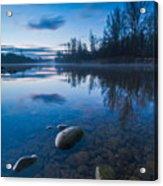 Dawn At River Acrylic Print by Davorin Mance