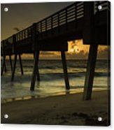 Dawn At The Pier Acrylic Print