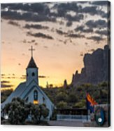 Dawn At The Superstitions Acrylic Print