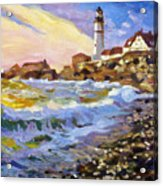 Dawn Breaks Cape Elizabeth Plein Air Acrylic Print