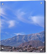 Dawn Eastern Sierra Nevada Mountains Acrylic Print