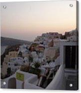 Dawn In Oia Santorini Greece Acrylic Print