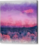 Dawn In Taos In Aquarelle Acrylic Print