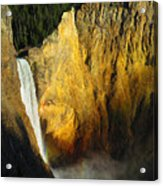 Dawn, Lower Falls Of The Yellowstone Acrylic Print