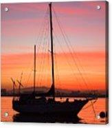 Dawn Of The Sailboat Acrylic Print