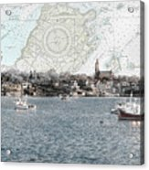 Dawn On Marblehead Harbor Acrylic Print