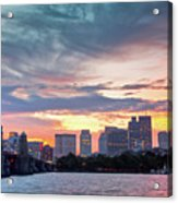 Dawn On The Charles River Acrylic Print by Susan Cole Kelly